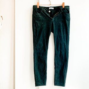 "LOFT ""curvy skinny"" corduroy pants dark green"